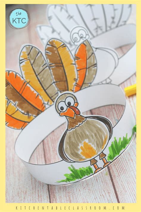 turkey headband thanksgiving crafts  kids