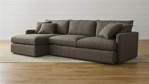 Lounge ii petite 2 piece sectional sofa crate and barrel for Klyne ii 2 piece sectional sofa
