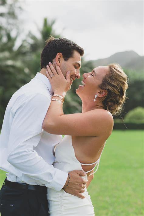 carissa moore reveals  backyard oahu wedding album
