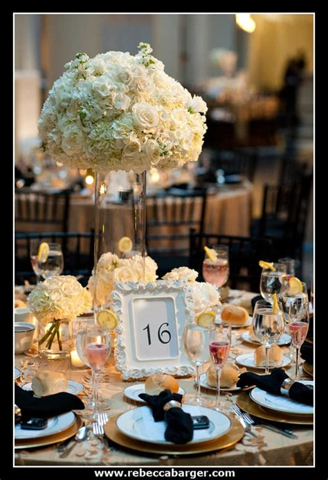 black white and gold centerpieces for wedding white and gold wedding centerpieces
