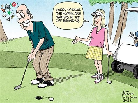 Funny Golf Cartoons Women Pictures To Pin On Pinterest