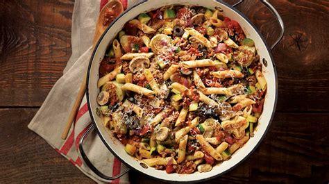 cuisine italienne recettes pâtes à la méditerranéenne recettes iga courgettes