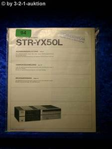 Sony Manual Str Yx50l Fm  Am Stereo Receiver   0094