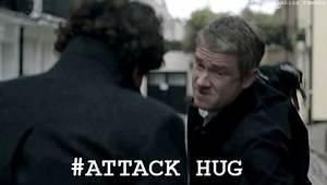 Sherlock Hug Attack GIFs on Giphy