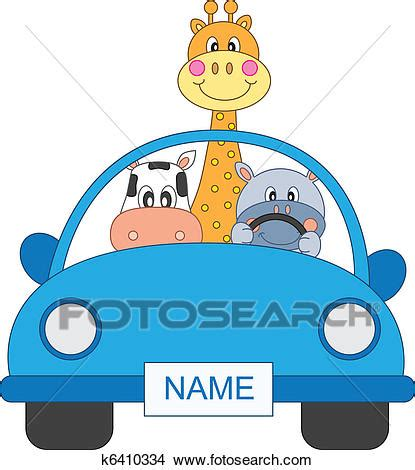 clipart animali animali macchina clipart k6410334 fotosearch