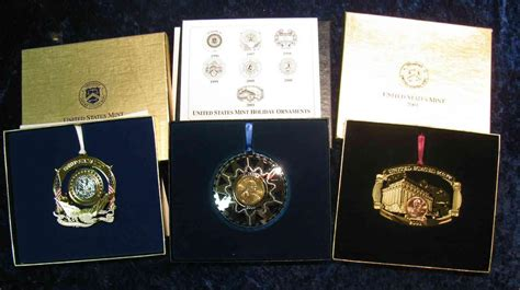us mint christmas ornaments 1071 1997 2000 2001 us mint ornaments issued at 18 95 each