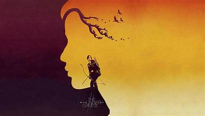 Hunger Games Background Wallpapers Gaming Katniss Yellow