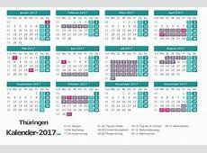 FERIEN Thüringen 2017 Ferienkalender & Übersicht