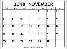 November 2018 Printable Calendar – printable calendar