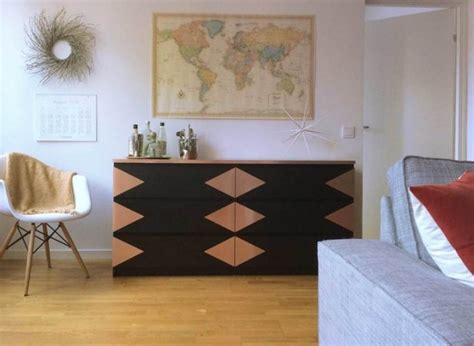 recouvrir bureau transformer un meuble ikea la commode malm clem around