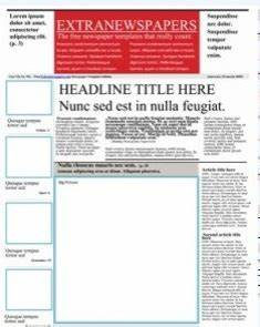 create your own newspaper template -
