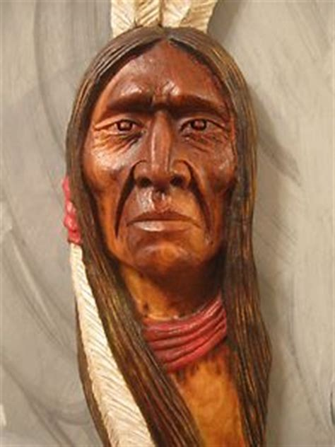 carving wood native american indians  wood carvings