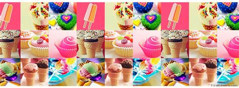candy  dessert collage facebook cover profile cover