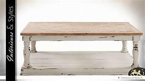 Table Basse Campagne Chic : table basse campagne chic finition bicolore int rieurs styles ~ Teatrodelosmanantiales.com Idées de Décoration