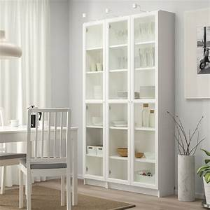 Tischdecke Weiß Ikea : billy oxberg b cherregal mit glast ren wei ikea ~ Watch28wear.com Haus und Dekorationen