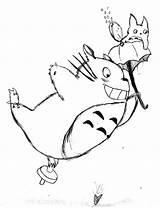 Totoro Coloring Miyazaki Ghibli Studio Hayao Drawing Printable Deviantart Sketch Recommended Getdrawings Template Cartoon sketch template