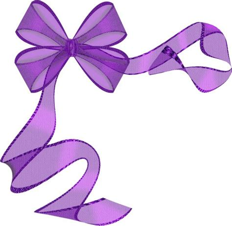 purple ribbon bow clip art paper birthday pinterest