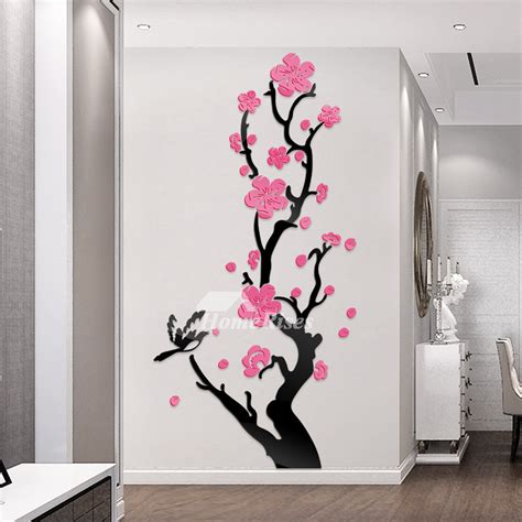flower wall decals acrylic personalized  bedroom home