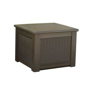 rubbermaid deck box home hardware rubbermaid rattan 56 gal resin storage cube deck box