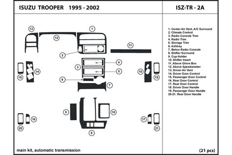 small engine service manuals 2001 isuzu rodeo instrument cluster cabin controls 2001 isuzu rodeo diagram isuzu auto parts catalog and diagram