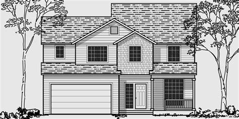house plans small lot narrow lot house plans building small houses for small