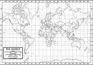 World Outline Map - Classroom Desk Map set of 50
