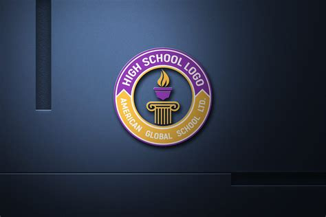 modern high school logo design  template graphicsfamily