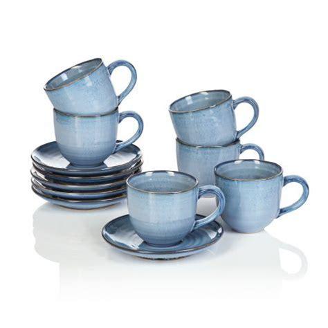 Keramik Geschirr Landhausstil by Tassen Set 12 Tlg Landhausstil Steingut Vorderansicht