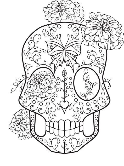 Girls Face Sugar Skull Coloring Pages Coloringsuitecom