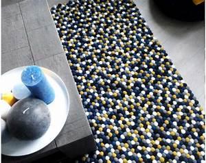 Tapis Jaune Et Bleu : personnalisable balls tapis de laine dans de nombreuses ~ Dailycaller-alerts.com Idées de Décoration