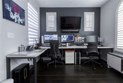 decoration de bureau maison mobilier de bureau meubles bureau à la maison ergonomie