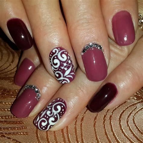 maroon nails designs nenuno creative