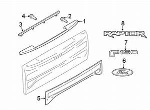Ford F-150 Tailgate Molding  Lower   F150