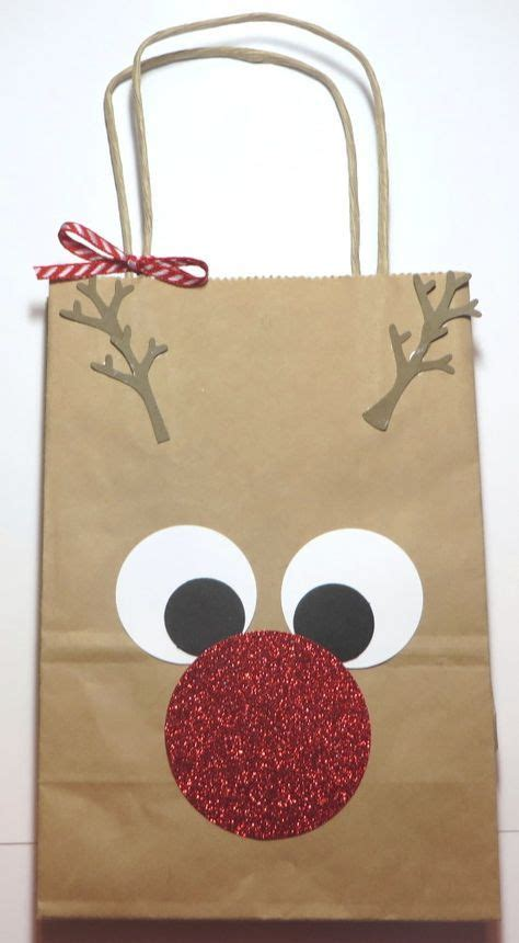rudolph the red nosed reindeer gift bag so easy find a