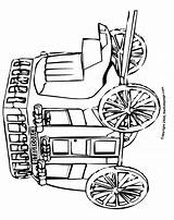 Coloring Pages Stagecoach West Colouring Adults Stage Coach Printable Western Sheets Town Adult Template Sketch sketch template