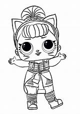 Lol Coloring Surprise Pages Doll Dolls Printable sketch template