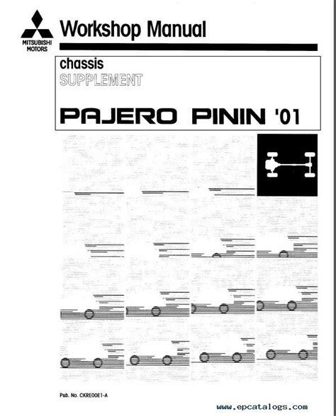 car service manuals pdf 1988 mitsubishi pajero on board diagnostic system mitsubishi pajero pinin workshop manuals pdf
