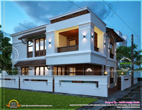 home designer 2450 square feet villa view night kerala home design and floor plans