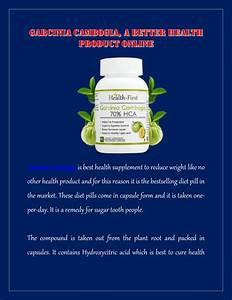 Garcinia Cambogia  A Better Health Product Online By Health First