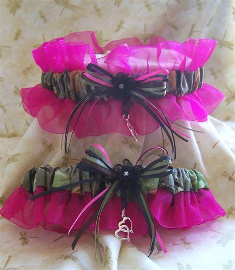 Realtree Camo Whot Pink Wedding Garter Set Ebay