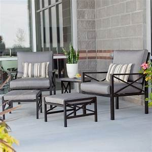 Madison outdoor balcony chat set contemporary patio for Madison outdoor furniture