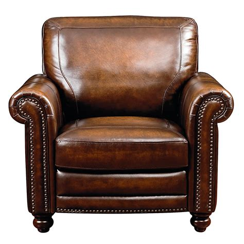 rubbed brown leather chair with turned legs