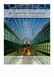 2010  Student Study Guide With Solutions Manual For