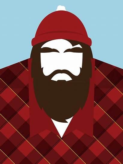 Lumberjack Beard Beards Canadian Party Barbas Society6