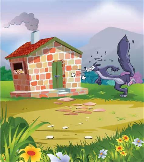 Three Little Pigs Wolf Brick House