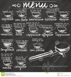 drawing house plans free menu coffee on chalkboard stock vector image 54730263