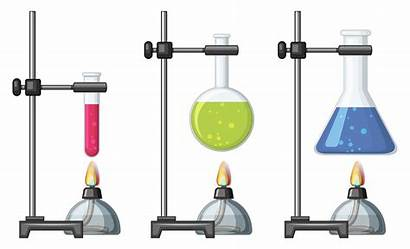 Beakers Chemical Burner Vector Science Clipart Different