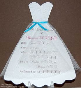 dress template myneed2craft bridal shower invitations With wedding shower cards pinterest