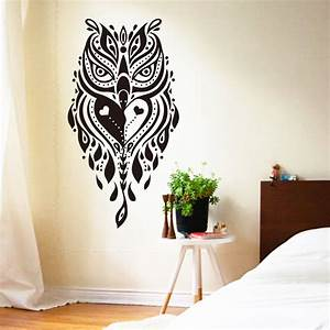Art design cheap home decoration vinyl cool creative owl for Awesome home design ideas with horse decals for walls