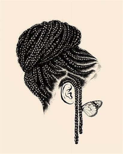 Braids Braid Hair Draw Hairstyles Box African